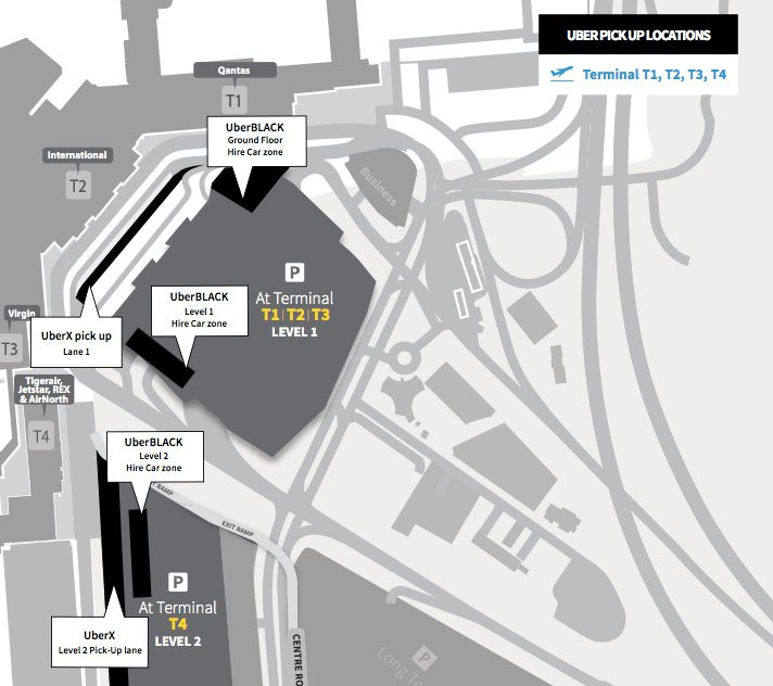 Melbourne airport pickup locations