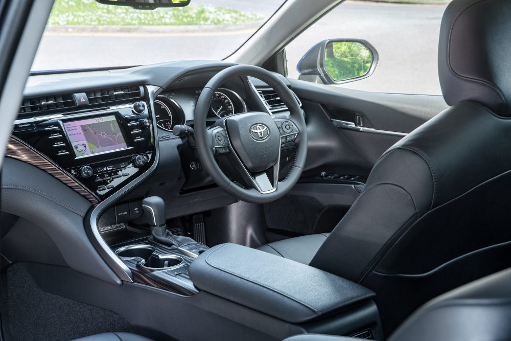 Toyota-Camry-Hybrid-Excel-Galactic-Blue-interior